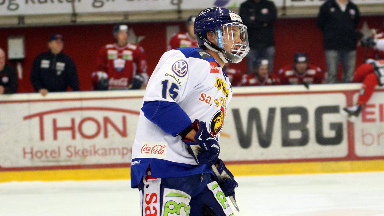 David Hallström med ekstra beskyttelse i dag.