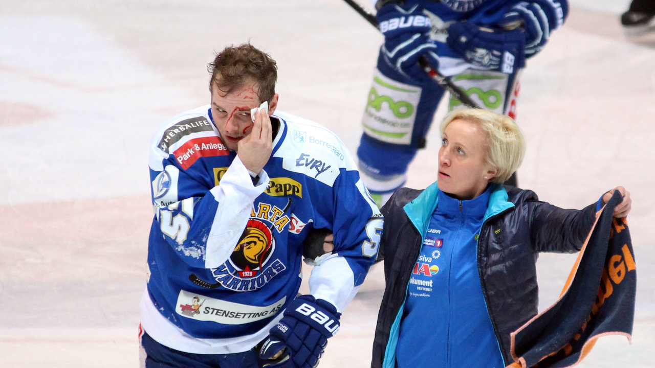 Marius Hagberg følges av isen  !