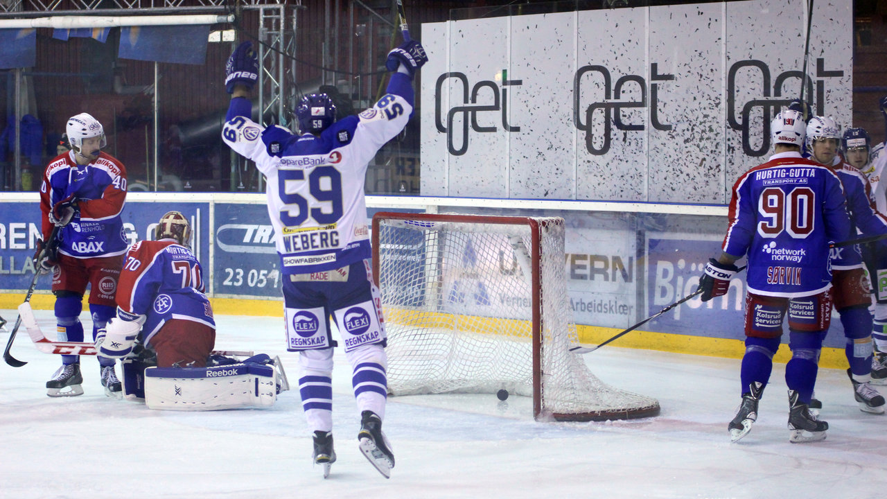 Mats Weberg jubler for scoring!