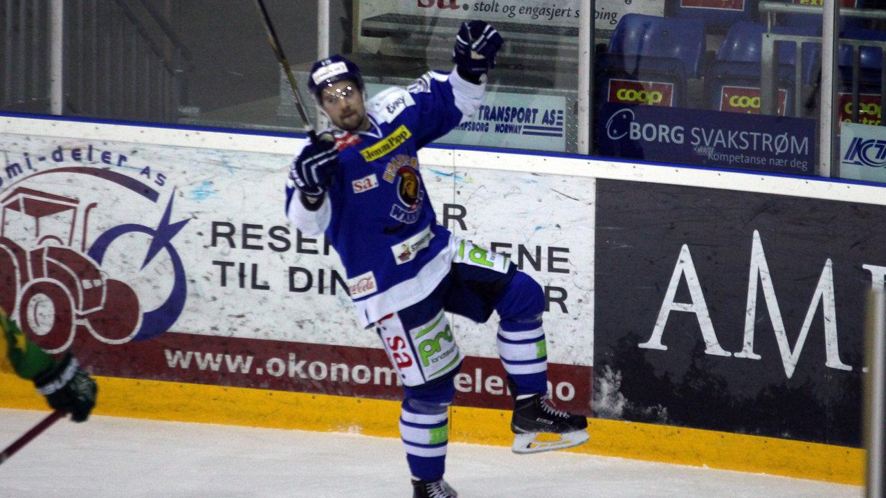 David Hallström fornøyd med egen scoring.