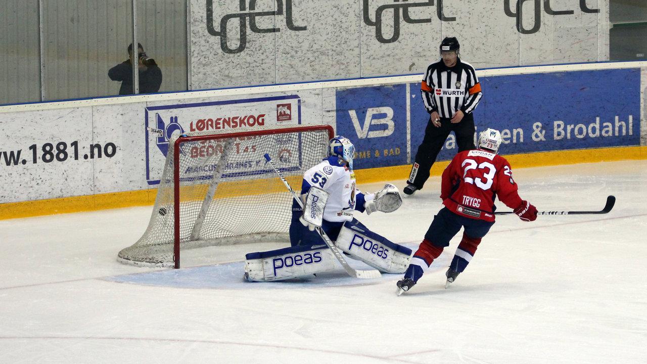 Mats Trygg satt 1-0 på straffe.