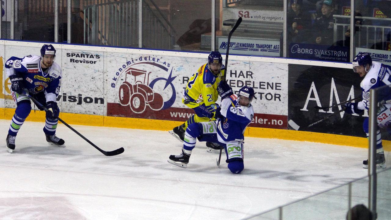 Mikkel Søgaard kriger med en storhamarspiller.