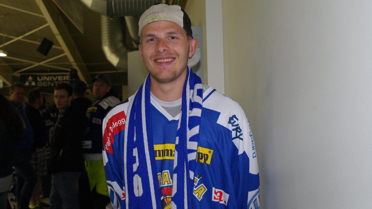 Supportern Kai foto: Malin Lystad