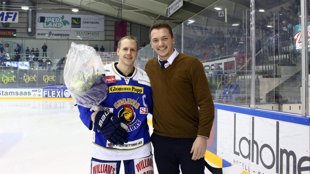 Niklas Roest rundet 500 kamper for Sparta. Foto Dagfinn Heidenberg.