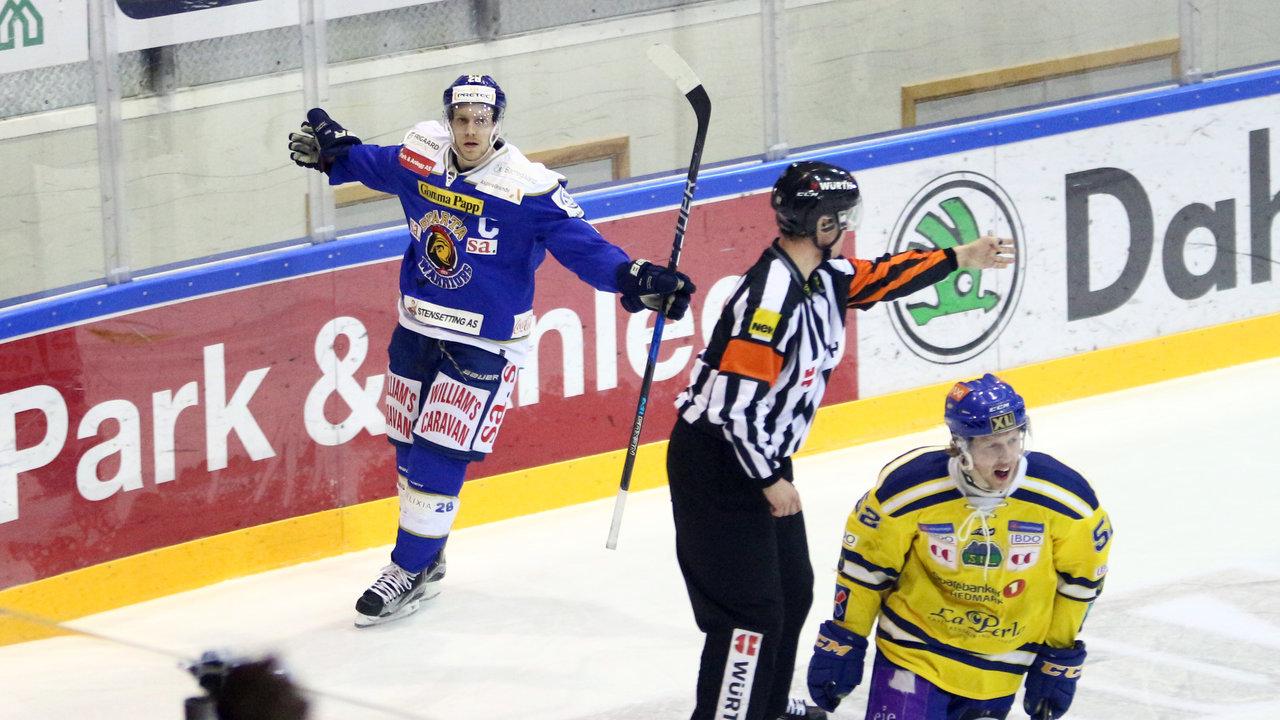 Kaptein Niklas Roest scoret begge av Spartas mål (Foto: Dagfinn Heidenberg)
