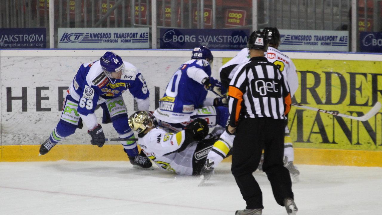 """Her blir det spilt """"Spartahockey"""" Foto: Dagfinn Heidenberg"""