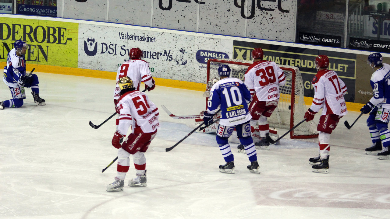 Patrick André Bovim sitt andre mål for dagen.