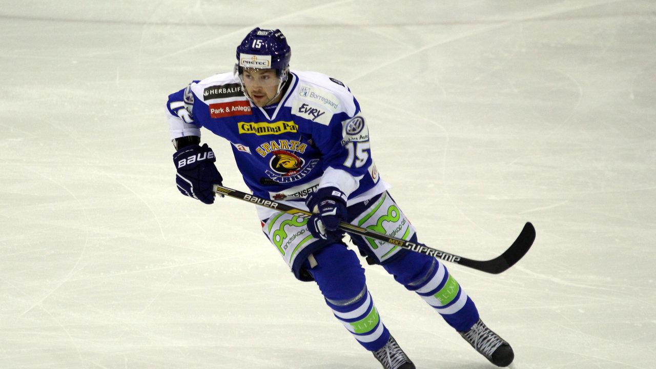 David Hallström scoret sitt første mål for Sparta i dag.